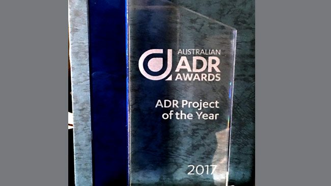 Australian Alternative Dispute Resolution (ADR) Awards 2017