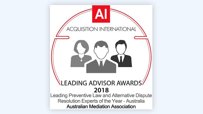 Leading Preventive Law and Alternative Dispute Resolution Experts of the Year – Australia 2018